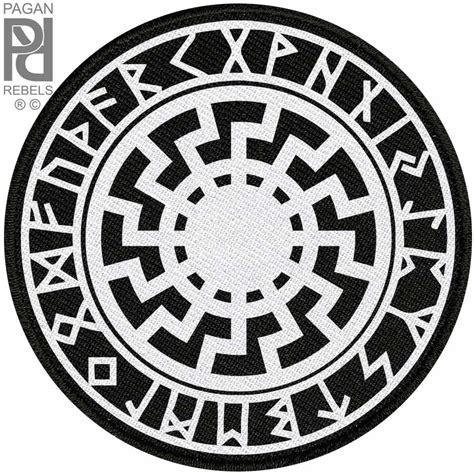 Jaket Hoodie Logo Thor Ragnarok Roffico Cloth black sun volkisch norse runes viking ragnarok 9 5mm 3 8 quot patch pagan rebels