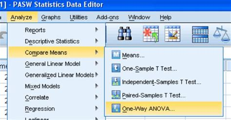 online tutorial for spss one way anova in spss stats for graduate students