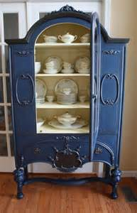 hometalk painted vintage china cabinet