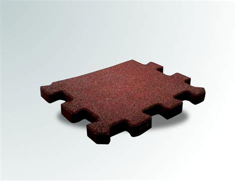 puzzle gomma per pavimento pavimento a puzzle in gomma antitrauma rossa 50x100 sp 2cm