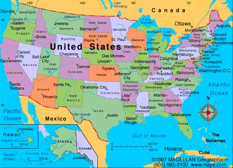 united states map new states the united states of america