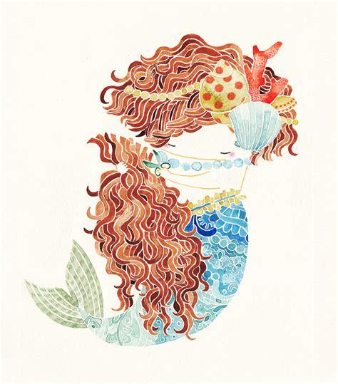picture illustration shu okada mermaid