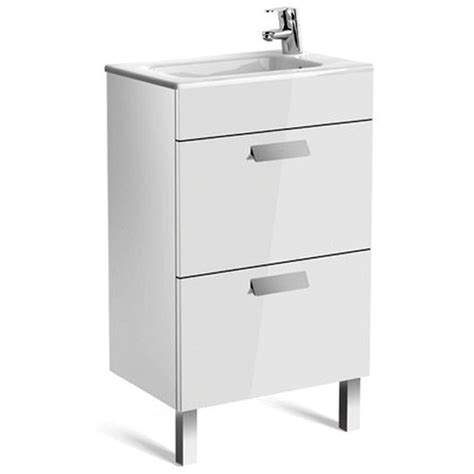 Compact Vanity Unit by Roca Debba Compact 2 Drawer Vanity Unit With Basin Uk
