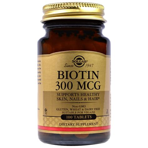 Biotin 7 500 Mcg solgar biotin 300 mcg 100 tablets iherb
