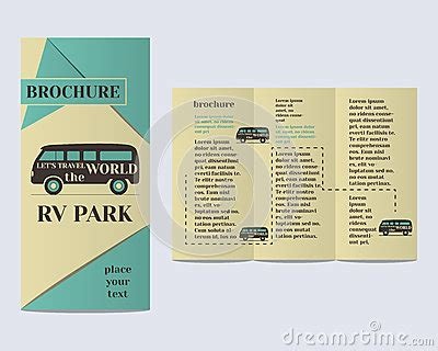 Travel And Cing Brochure Flyer Design Layout Stock Vector Image 54897619 Rv Park Business Plan Template