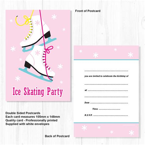 skating invitations templates skating invitations birthday invites a6