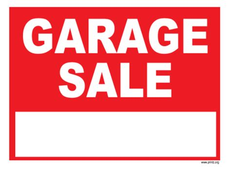 Garage Sale On by Garage Sale Signs