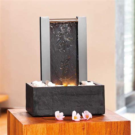 zimmerbrunnen modern schiefer zimmerbrunnen mit led liu gartentraum de