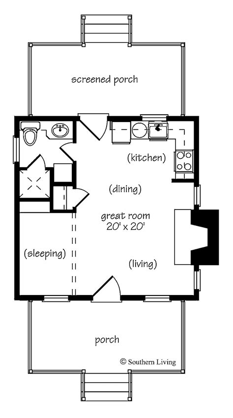 one bedroom cottage floor plans one bedroom house plans home plans homepw24182 412 square 1 bedroom 1 bathroom cottage
