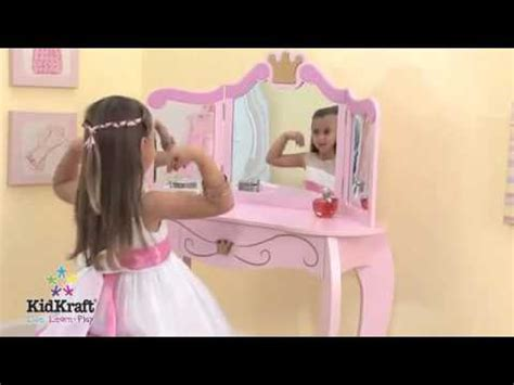 Kidkraft Princess Vanity Stool 76123 by Pink Princess Vanity Dressing Table And Stool