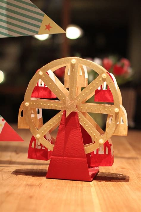 How To Make Paper Wheels - paper ferris wheel