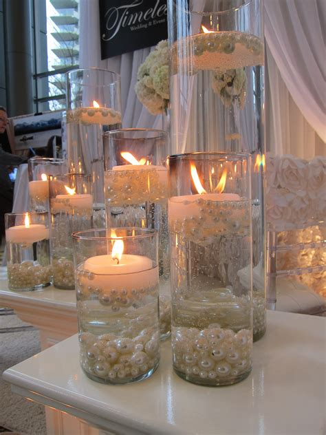 Candles With Pearls Centerpieces Candlelight Focus Candle Centerpieces For Birthday