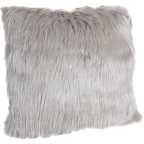 18x18 gray faux fur pillow 1b 90818 mj090818 14 12 ctn