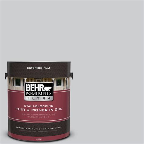 behr premium plus ultra 1 gal 770e 2 silver screen color flat exterior paint 485001 the home