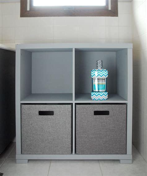 bathroom storage cubes bathroom storage cabinet makeover the gunny sack