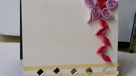 day greeting card design how to make a quilled floral greeting card design diy