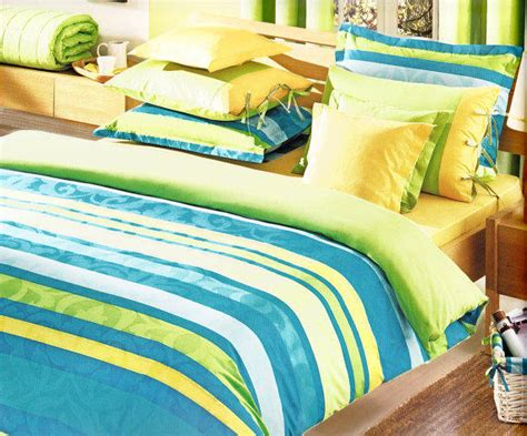 Lime Green And Blue Bedding Sets Custom Size Blue Turquoise From Myveralinen On Etsy
