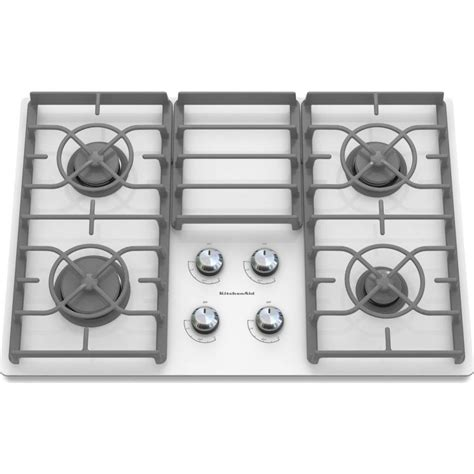 Glass Gas Cooktop Kitchenaid Kgcc506rww 30 Quot Sealed Burner Gas Cooktop With