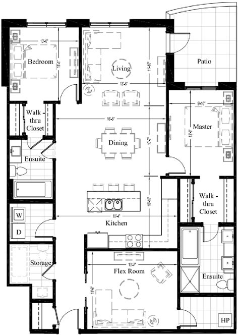 Edmonton Condominiums 2 Bedroom New Condo Floor Plan Condominium House Plans