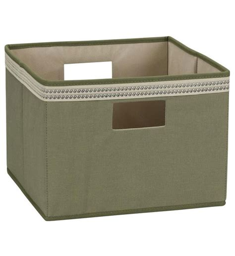 Olive Shelf Opened open storage bin olive green in shelf bins