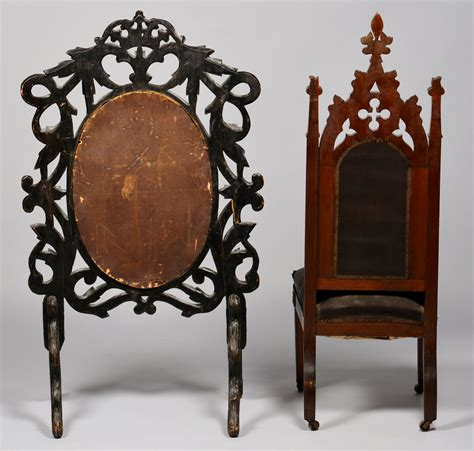 furniture items lot 709 2 american gothic furniture items chair screen