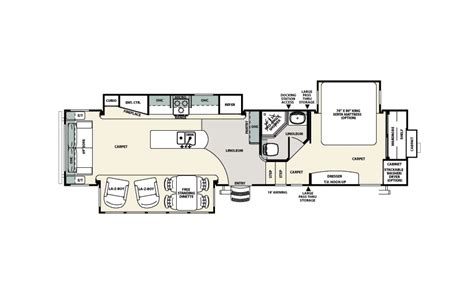 Sandpiper Rv Floor Plans | forest river sandpiper fifth wheel chilhowee rv center
