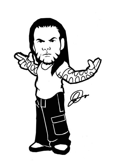 wwe jeff hardy coloring pages sketch coloring page