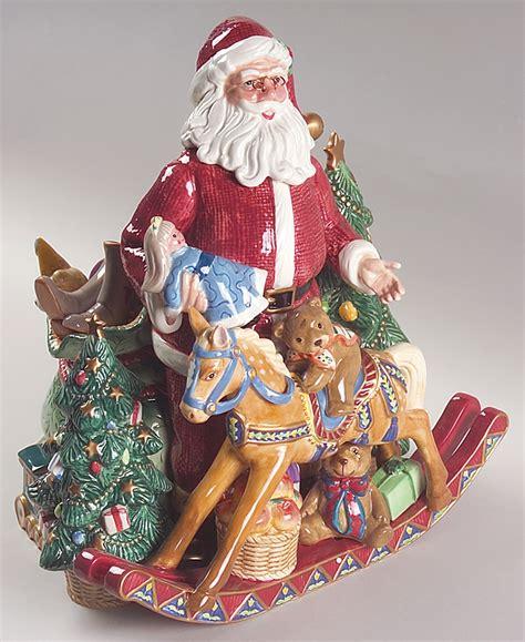 fitz floyd classics old fashioned christmas santa toys