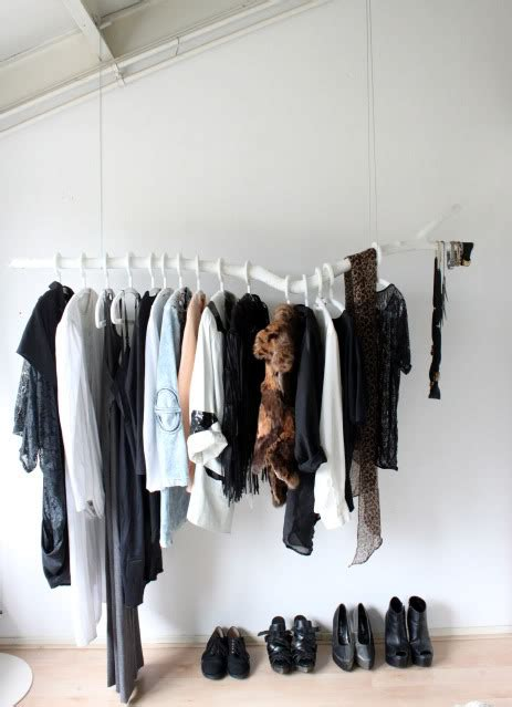 diy tree branch clothing rack
