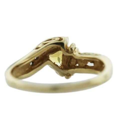 Citrine Rings by 14k Yellow Gold Trillion Cut Citrine Ring Boca Raton