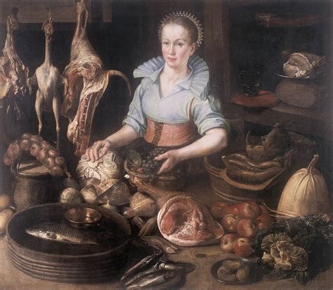 painting cooking the kitchen by rijck pieter cornelisz