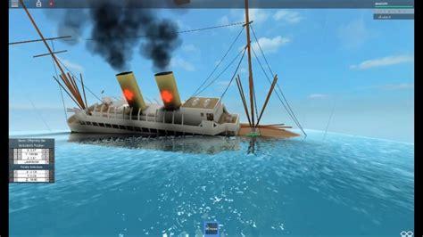 youtube ship sinking roblox ship sinking hospital ship youtube