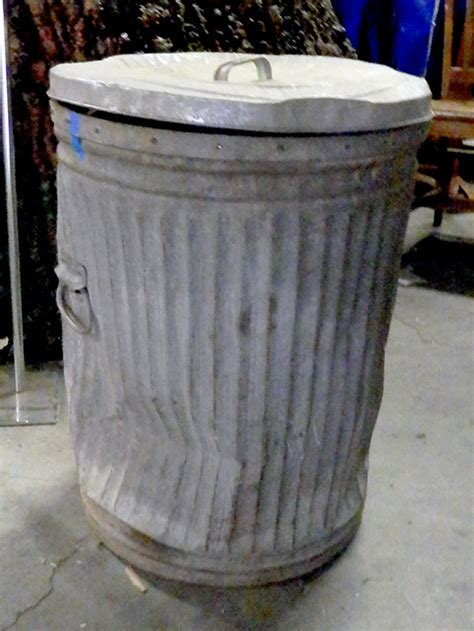 Full street trash can street trash can metal with