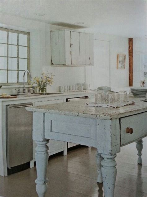 shabby chic kitchen island shabby chic kitchen work table home style pinterest