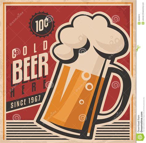 imagenes retro telarañas cartel retro del vector de la cerveza im 225 genes de archivo
