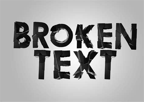 typography tutorial cinema 4d broken type on behance