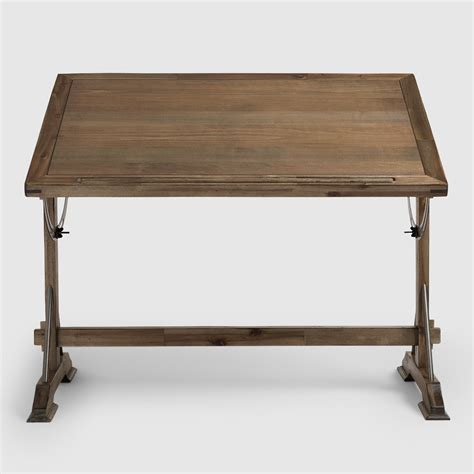 World Market Drafting Table Antique Drafting Table Stools Barn Wood Fir And Cast Iron Pipe Deskantique Desk L Table