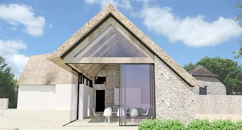 Gable Roof Extension A Contemporay Thatched Roof Extension To A Listed