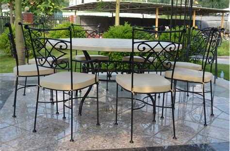 tables rondes de jardin 125 160cm outdoor garden mosaic marble dining table imhotep