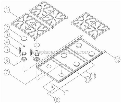 dacor cooktop replacement parts dacor esg486 parts list and diagram ereplacementparts