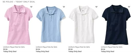 old navy coupons uniforms old navy 3 kid s polo shirts bogo school