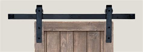 barn door track systems barn door track system in iron square end matte black