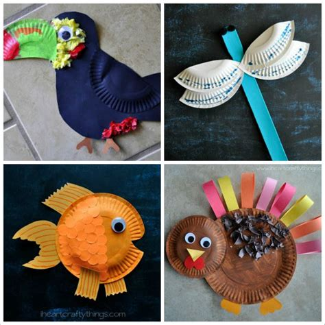 Animal Paper Crafts - i crafty things 20 paper plate animal crafts for