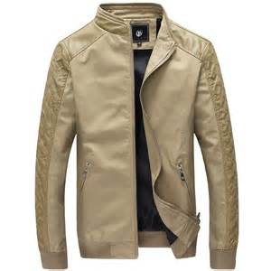 light mens jackets 2015 autumn winter leather jacket casual slim fit