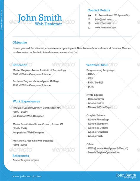 resume one page template the resume template that will get you you want