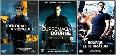 el caso bourne trilogia bourne trilogia paquete de 3 peliculas matt damon cine dvd