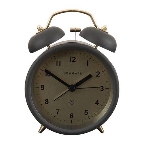buy newgate clocks bell alarm clock matt gravity grey amara
