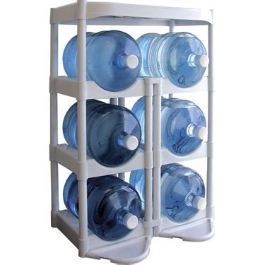 Water Bottle Racks by Tailor Made Bottle Buddy System White 5 Gallon Water