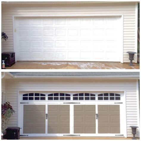 faux garage door faux carriage style garage doors diy garage garage