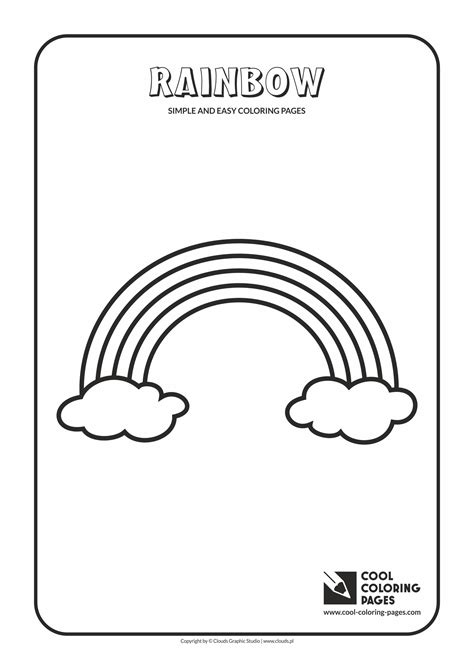 cool rainbow coloring page 100 rainbow coloring page rainbow with clouds and sun